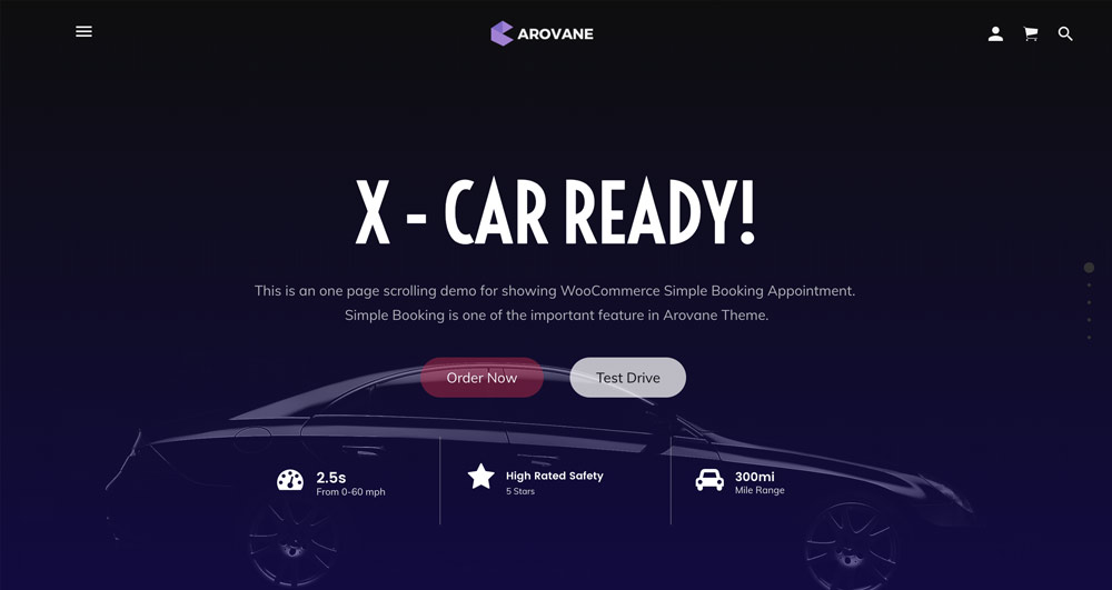 Arovane Theme - One Page Scrolling WordPress Theme