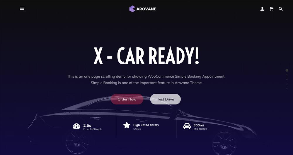 Arovane Theme - One Page Scrolling WordPress Theme